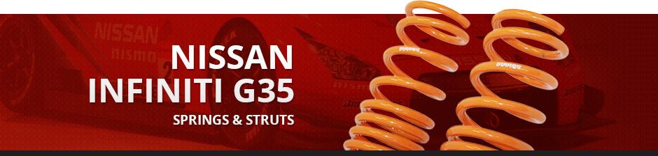 NISSAN INFINITI G35 SPRINGS & STRUTS