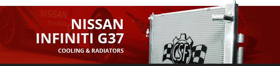 NISSAN INFINITI G37 COOLING & RADIATORS
