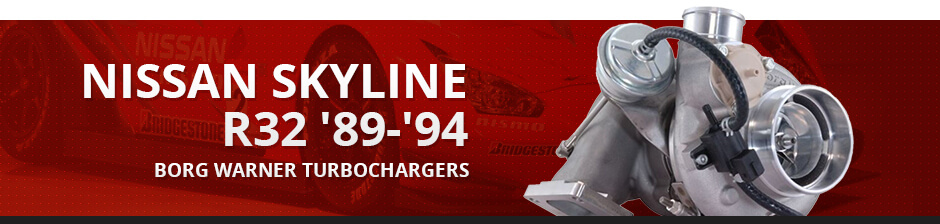 NISSAN SKYLINE R32 '89-'94 BORG WARNER TURBOCHARGERS