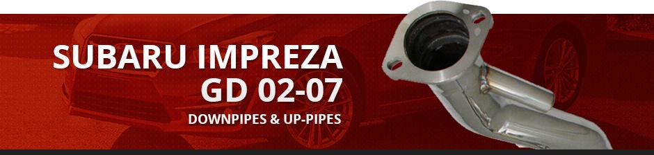 SUBARU IMPREZA GD 02-07 DOWNPIPES & UP-PIPES